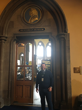 Paul Dragsnes at the Hunterian Museum Glasgow