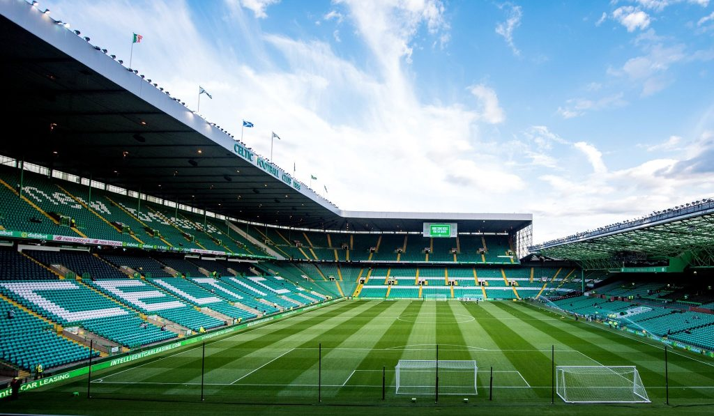 Celtic Park Tours take you to the football pitch